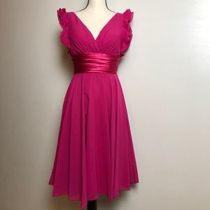 Dresses & Skirts - Pink Cocktail Dress with Shawl in Small - NWT